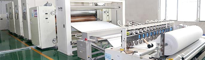 針刺棉,熱風棉,ES熱風棉,針刺無紡布生產車間